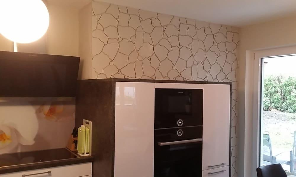 Steinwand-in-der-Küche