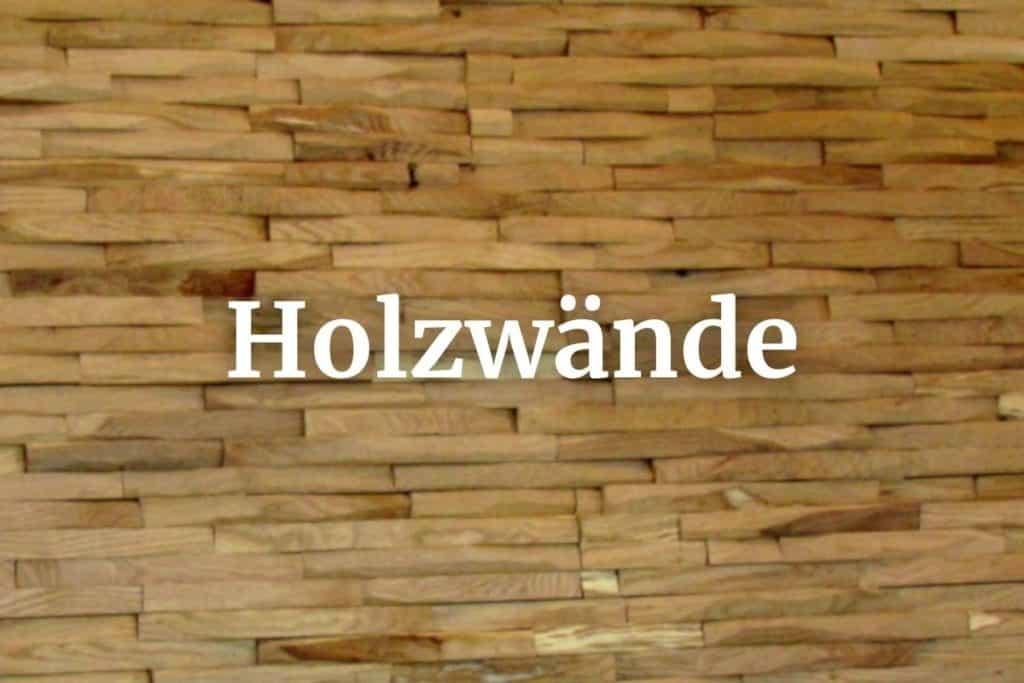Holzwände Megamenue